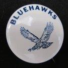 Vintage Early U-High University High Bluehawks Pinback Button 1.75 In Iowa