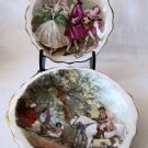 Vintage Set of 2 ROYAL STANDARD FRAGONARD M. LANGBROECK French Scenes Small Bone China Dishes 4.5 In