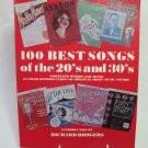 Vintage 100 Best Songs of the Twenties and Thirties Softback Book Piano Vocals