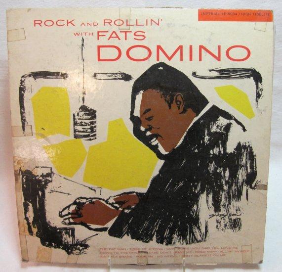 FATS DOMINO Rock and Rollin' LP Record Album Imperial LP-9004 Mono Maroon Label 1956