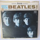 BEATLES Meet the Beatles LP Record Album Capitol ST-2407 Stereo Black Label 1964 Original
