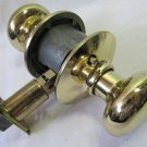 SCHLAGE Plymouth Bright Brass Hall Closet Door Knob Set  F10 PLY 605 in EUC