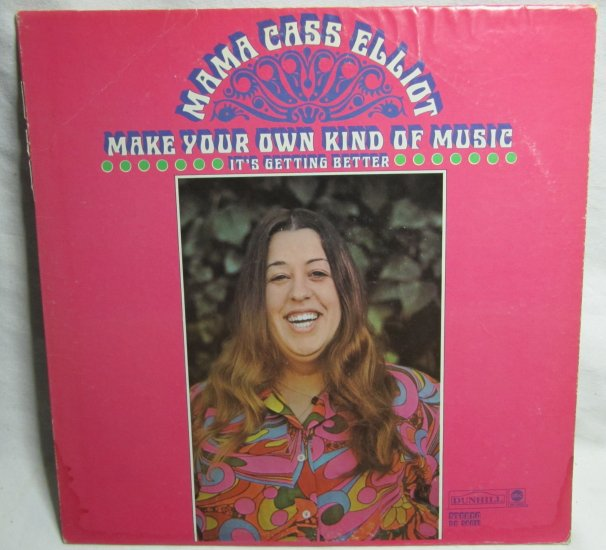 mama cass elliot make your own kind of music lp record vinyl dunhill ds 50071 stereo 1969. Black Bedroom Furniture Sets. Home Design Ideas