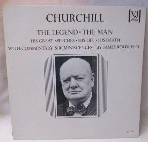 CHURCHILL The Legend The Man Speeches Commentary VJLP-1130 Original 1965 LP Vinyl Record Album