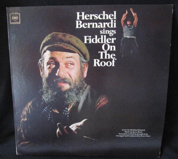 Herschel Bernardi Sings Fiddler On The Roof Columbia Ol