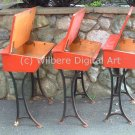 Digital Art JPG Photo Three Red Desks