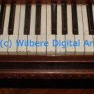 Digital Art JPG Photo c 1875 Hallet Davis Baby Grand Piano Keys