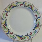 Antique Villeroy & Boch Wallerfangen Saar-Basin Plate Colorful Floral Border 9.25 In China c 1874