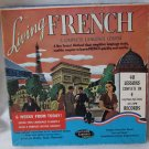 1960s LIVING FRENCH Language Course 40 Lessons Boxed Set 4 10-Inch 33 RPM Vinyl Record Albums