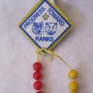 Vintage Boy Scout Progress Toward Ranks Totem Emblem Pin w 8 Beads
