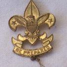 Vintage Boy Scout Pin 1st Class Be Prepared Trefoil Fleur de Lis Eagle Shield BSA w Knot Large