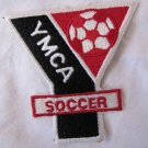 Vintage YMCA Soccer Patch Red Black White 4 x 4 Inches Mint Condition