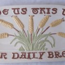 Vintage HOLLAND MOLD Give Us This Day Our Daily Bread Plate Platter Oblong Ceramic 13.5 In Wheat