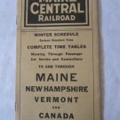 Vintage 1927 Railroad Train Schedule Time Table Maine Central Railroad