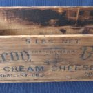 Vintage Beacon Brand Cream Cheese Wooden Box 5 Lbs Size National Creamery Co. Boston 12x4x3.75 In