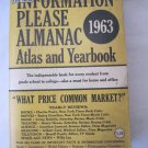 Vintage 1963 Information Please Almanac Yearbook Ed. Dan Golenpaul Pub. Simon & Schuster 928 p