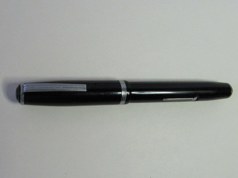 Vintage Esterbrook J Double Jewel Fountain Pen Black Barrel