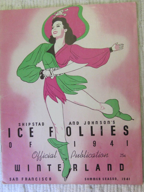 Vintage Ice Follies of 1941 Program Shipstads & Johnson Moonlight Vision