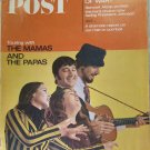 Saturday Evening Post March 25, 1967 Magazine The Mamas and The Papas Cover