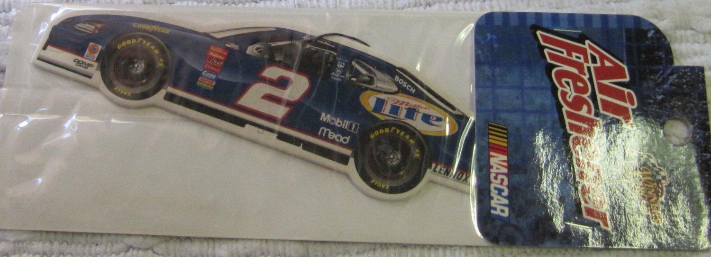 Vintage NASCAR Car Air Freshener No. 2  Miller Lite In Unopened Package