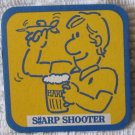 Vintage HARP Stays Sharp Lager Beer Drink Coaster Sharp Sharp Shooter MINT