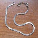 "Vintage Solid 14K Gold Serpentine Chain Bracelet 7"" Stamped 14k Italy"