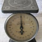 Vintage American Family Scale 25 Pounds Round Face Black Scalloped Base