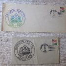 Two Postmarked Envelopes Summerland, CA 1889 1989 Centennial May 12, 1989 25 Cent Stamps