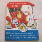 Vintage Norcross Birthday Greeting Card Multipage How to Live to Be 100 (c)25B303-2