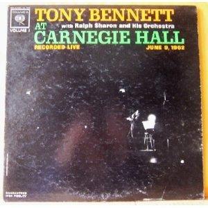 TONY BENNETT at Carnegie Hall VOL 1 Columbia CL1905 Original LP Vinyl Mono Record Album