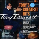 TONY BENNETT Tony's Greatest Hits Columbia CL1229 Original 1958 LP Vinyl Monaural Mono Record Album
