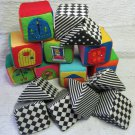 IQ Baby Knock Knock Blocks 16 Blocks Colorful & Black & White Cotton Covered Foam Toys
