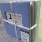 Set of 2 ELSA L Photo Albums Fabric Covered Light Blue Solid & Striped Hold 200 Photos Each