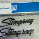 OEM GM Corvette Stingray Emblems Set of Two in Orig Box P/N 75G6 1 #3956216 GR 8 147