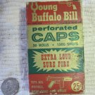 Vintage Young Buffalo Bill Caps in Original Box 25 of 30 Rolls 1950s Leslie-Henry Co.