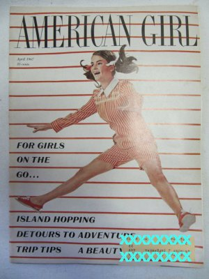 American Girl Magazine April 1967 Vintage 1960s Back Issue For Girls on the Go