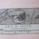 Antique Victorian Business Trade Card Geo. E. Hoar Wallpapers Bedford St. Fall River MA A.L. Bodwell