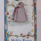 Rare c 1904 Antique Victorian Business Trade Card Bookmark Mehlin F.A. Pelton Piano Co Boston