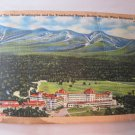 Vintage Postcard Tichnor Bros 75325 Aerial View Mt Washington Bretton White Mtns NH 1 Cent Stamp