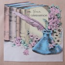 Vintage Graduation Greeting Card Signed by Iride Pilla June 1943 Boston Conservatory
