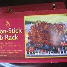 Non-Stick Rib Rack For Grilling Holds 4 Rib Slabs Upright Dishwasher Safe