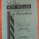 Vintage Sickler Note Speller and Theory Lessons for Accordion  Book Two No. 725