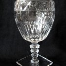 HAWKES Crystal Water Goblet Square Base Clear Notched Stem 6.25 In