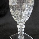 HAWKES Crystal Wine Cordial Glass Square Base Clear Notched Stem 4.875 In Chipped Base W2