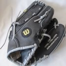 WILSON A200 Kid Child Baseball Glove 10 In Black Leather A2434W8