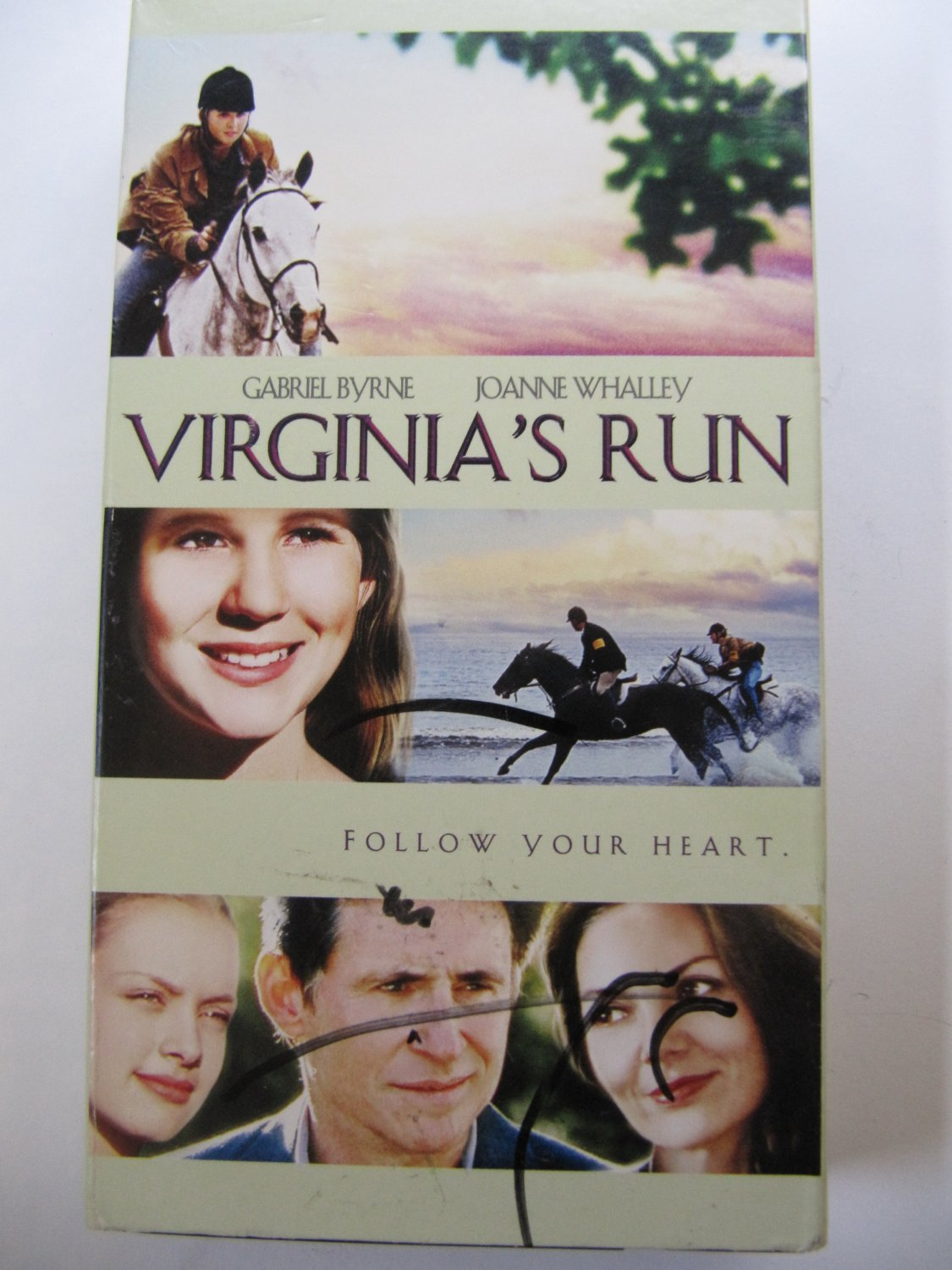 Virginia's Run VHS Video Horse Movie Starring Gabriel Byrne and Joanne Whalley