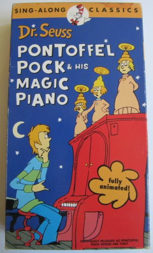 Dr. Suess Pontoffel Pock & His Magic Piano VHS Video Kids' Movie Animated Sing-along