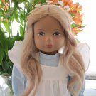 HEIDI OTT SYLVIE Doll No. 0183 Beautiful Vintage Blonde 19.5 In in Blue & White Dress