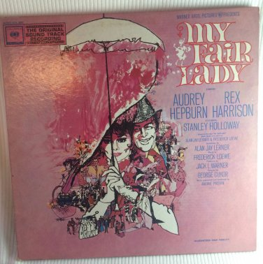 My Fair Lady Rex Harrison Audrey Hepburn Columbia MONO-KOL 8000 Original Vinyl Record Album