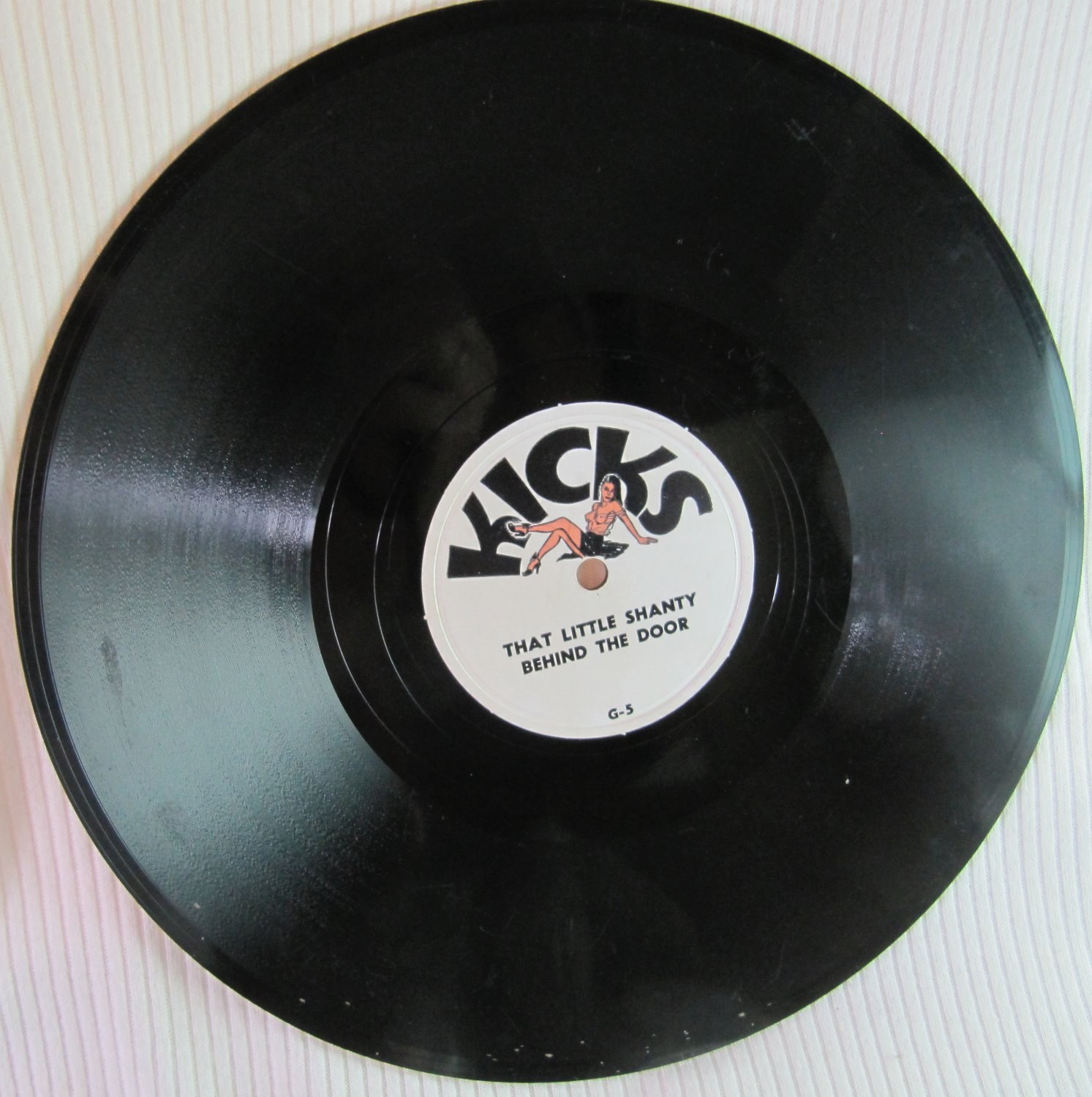 Vintage KICKS 78 RPM Vinyl Record Party Baudy That Little Shanty Gal From Atlantic City